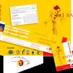Pressemappe, Einladung und Postkarte