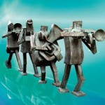 Statue Musicians in Malm (Schweden)