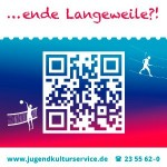 """Flyer für den Super-Ferien-Pass 2012/13 Titel """"gaehnende Langeweile?"""""""
