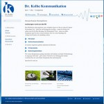 Screenshot Kolbe Kommunikation / Leistungen