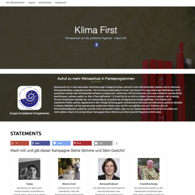 Screenshot Klima-First