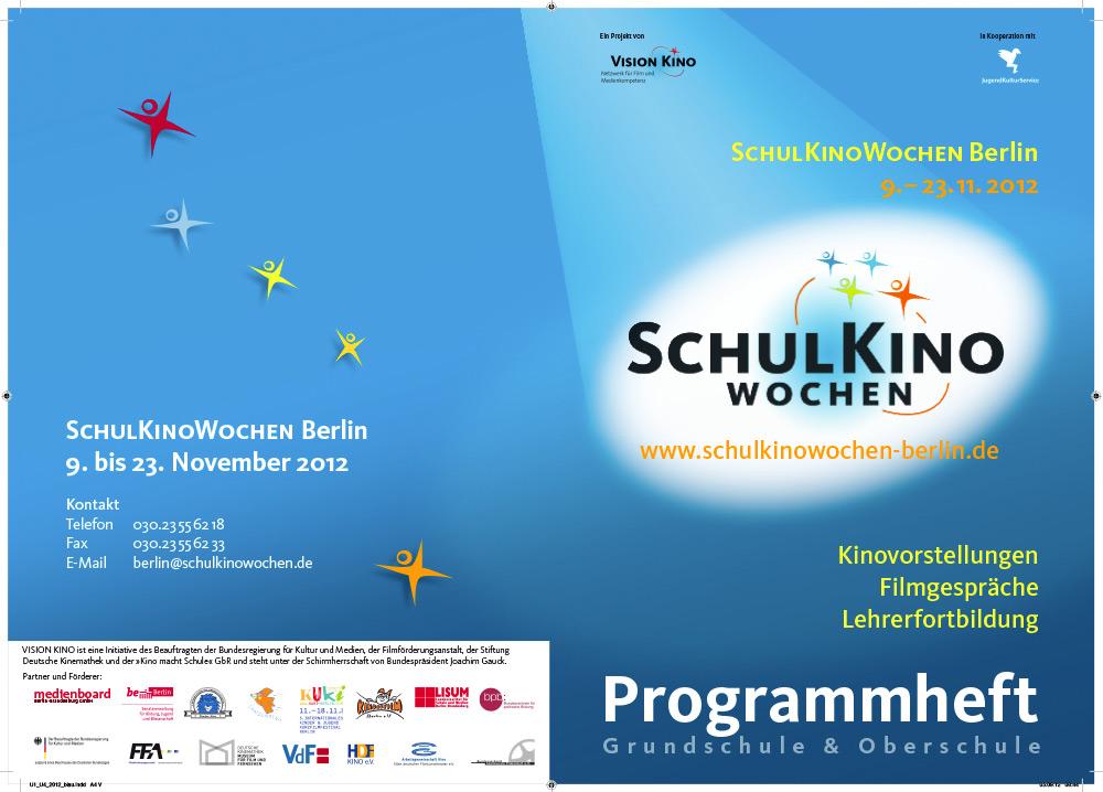 Umschlag für Programmheft der SchulKinoWochen Berlin 2012
