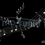 Musik Noten, Kalligrafie