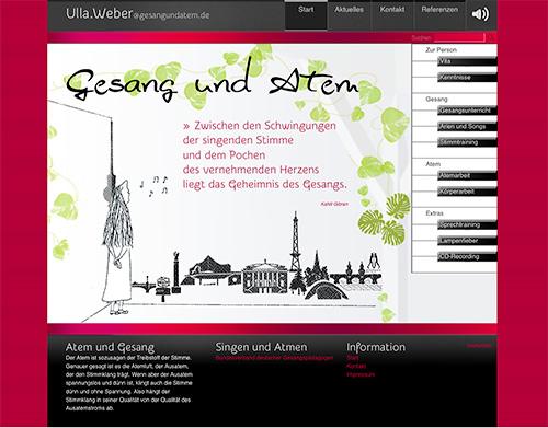 Screenshot gesangundatem.de Startseite