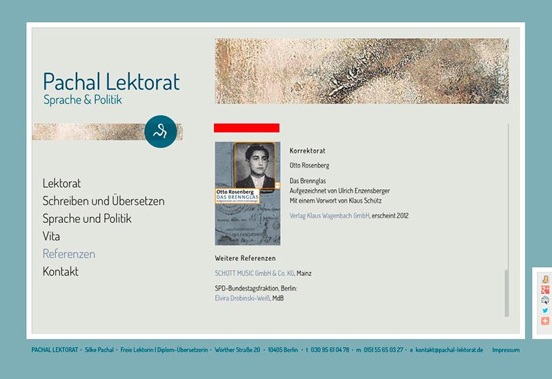 Screenshot www.pachal-lektorat.de/referenzen