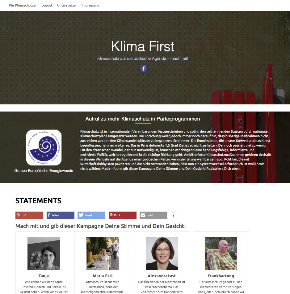 Screenshot Klima-First